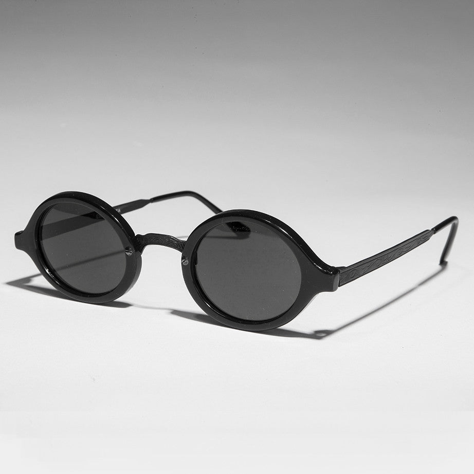 oval black art deco sunglass