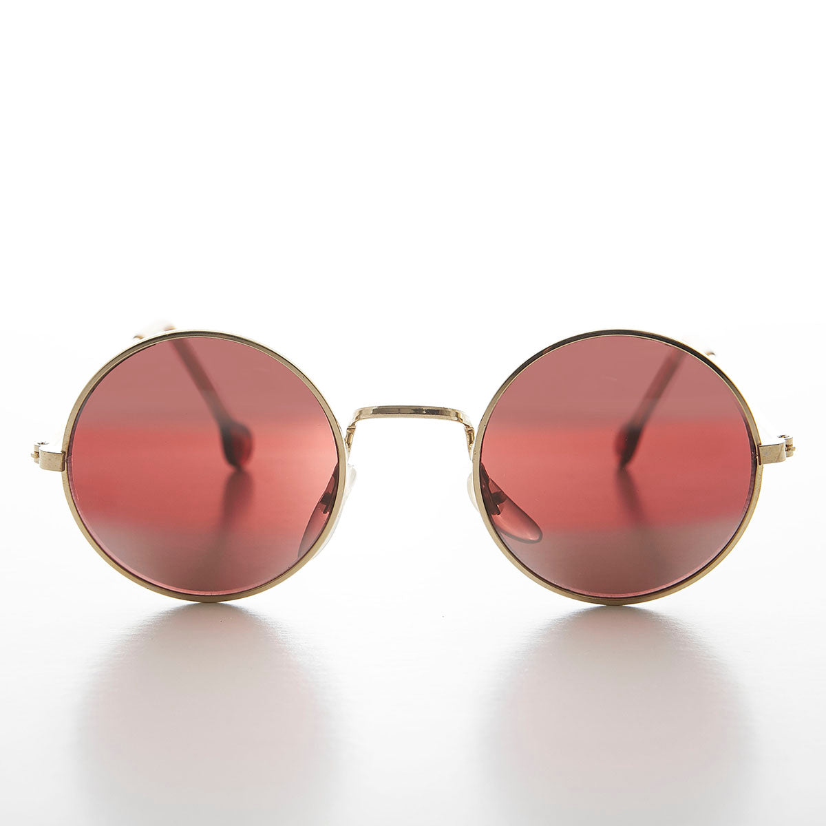 Rose Colored Lens Round John Lennon Sunglass