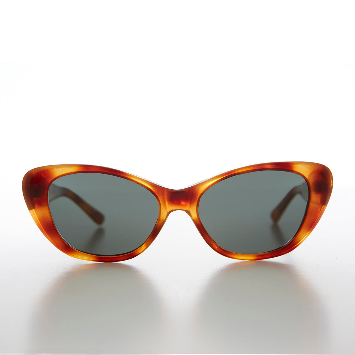 Cat Eye Vintage Sunglass with Optical Glass Lens