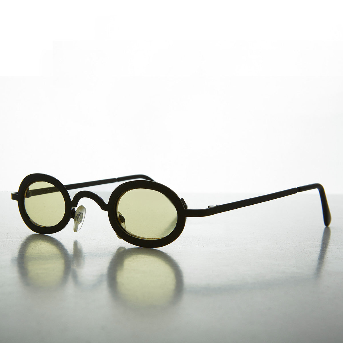 1990s oval colored lens goth vintage sunglasses