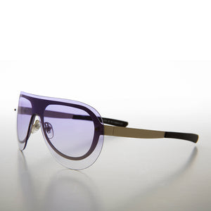 Rimless Colored Lens Aviator Deadstock Sunglass
