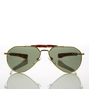 gold aviator vintage sunglass