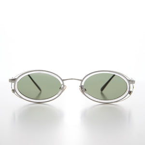 Clear Oval 90s Vintage Sunglass