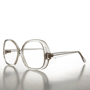 Oversize Round Women's Clear Lens Vintage Glasses