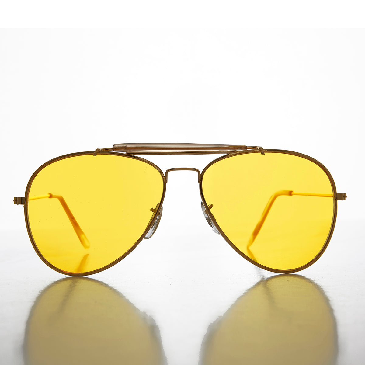 Yellow Lens Aviator with Classic Brow Bar