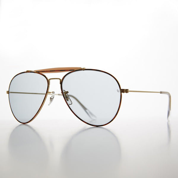 vintage aviator sunglass with Corning USA transition lens