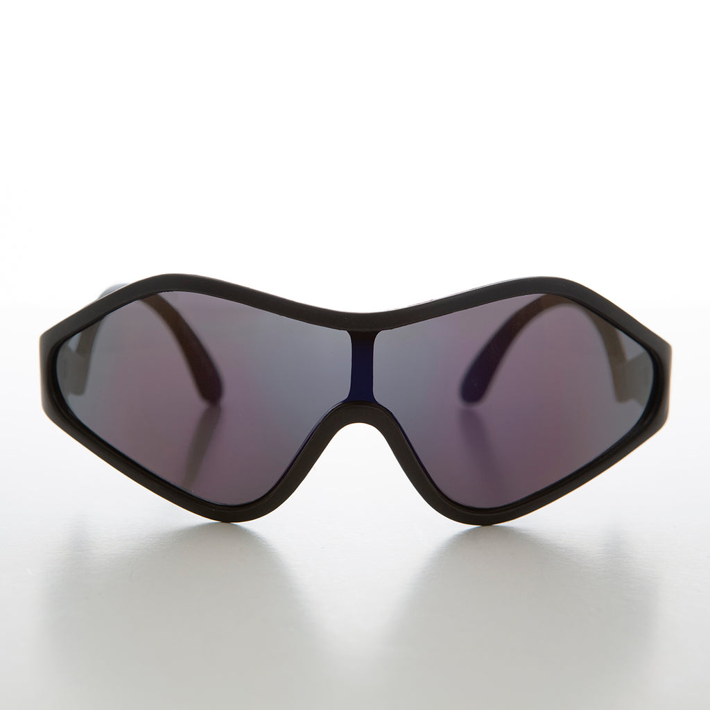 Unique Curved Futuristic Mask Shield Sunglass