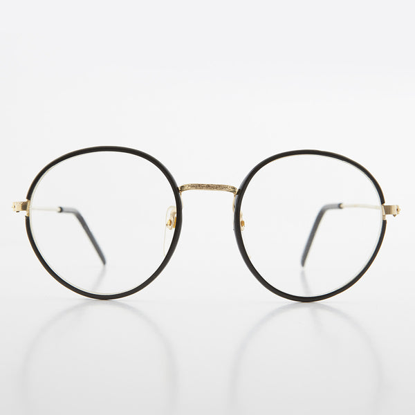Round Preppy Polo Style Clear Lens Glasses