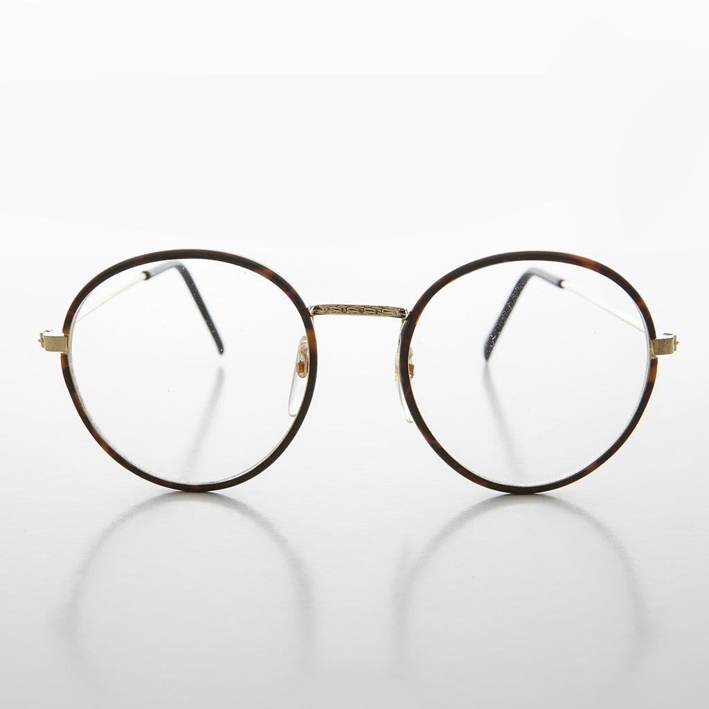 round vintage clear lens glasses
