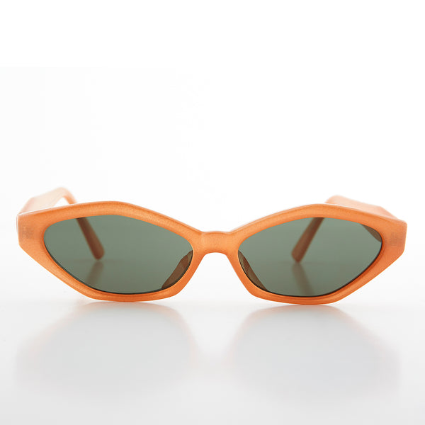 orange cat eye women's sunglass