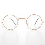 Load image into Gallery viewer, Small Round Spectacle Eyeglass Real Glass Lens Optical Frame