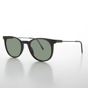round horn rim vintage sunglass with glass lens