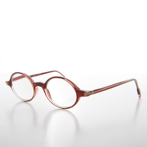 Small Red Oval Reading Glasses