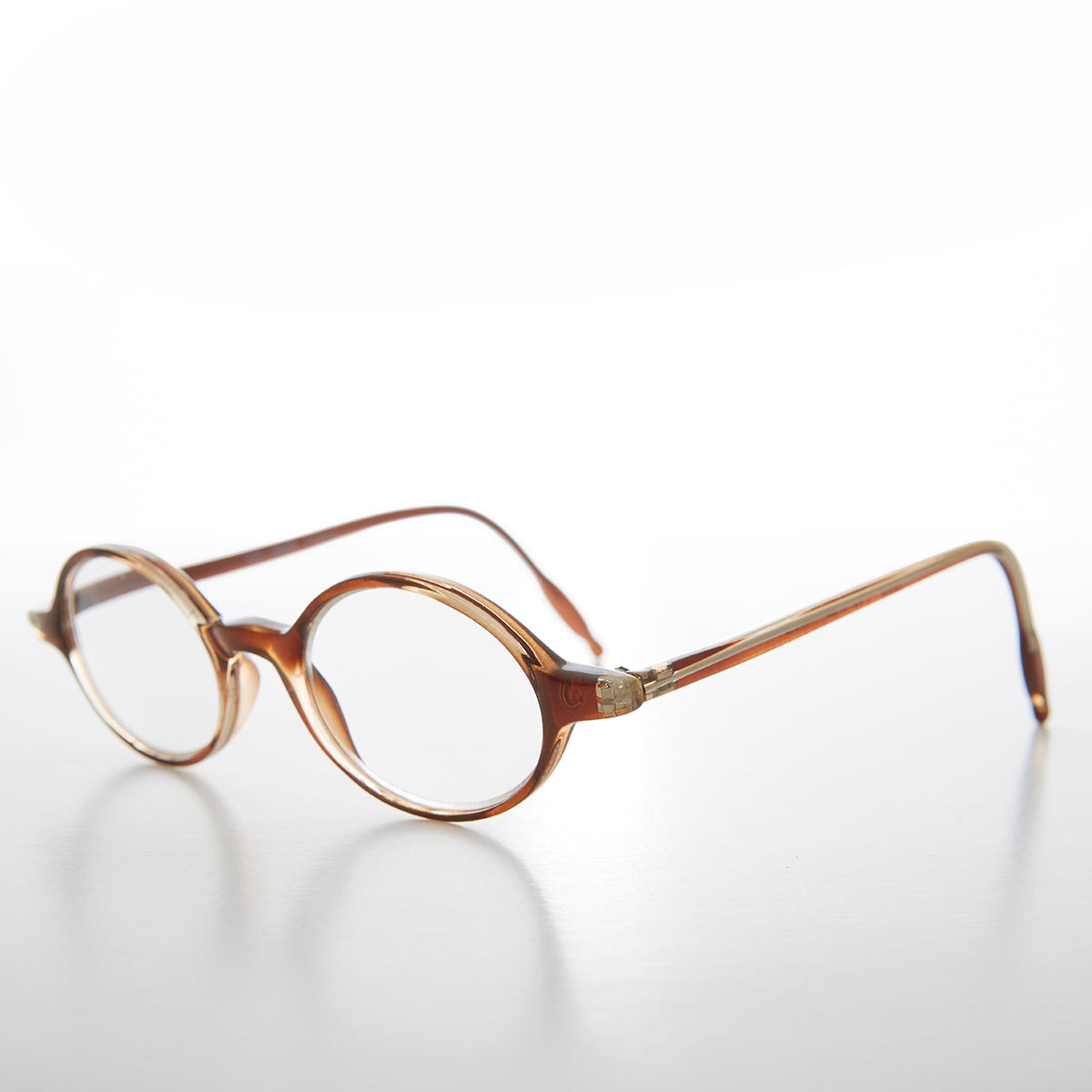 Small Tortoise Oval Reading Glasses