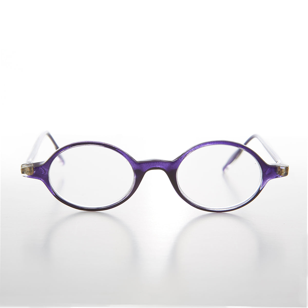 Small Purple Oval Reading Glasses