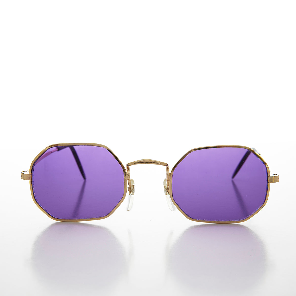 Color Tinted Octagon Shaped Vintage 90s Sunglass - Fairfax