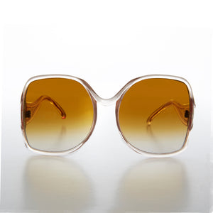 Large Women's 80s Vintage Sunglass with Gradient Lens