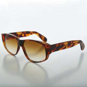 men's rectangular thick frame vintage sunglass
