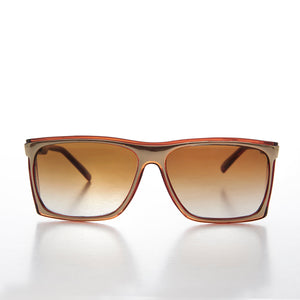 Square Flat Top Vintage Sunglass with Side Shields - Fiasco