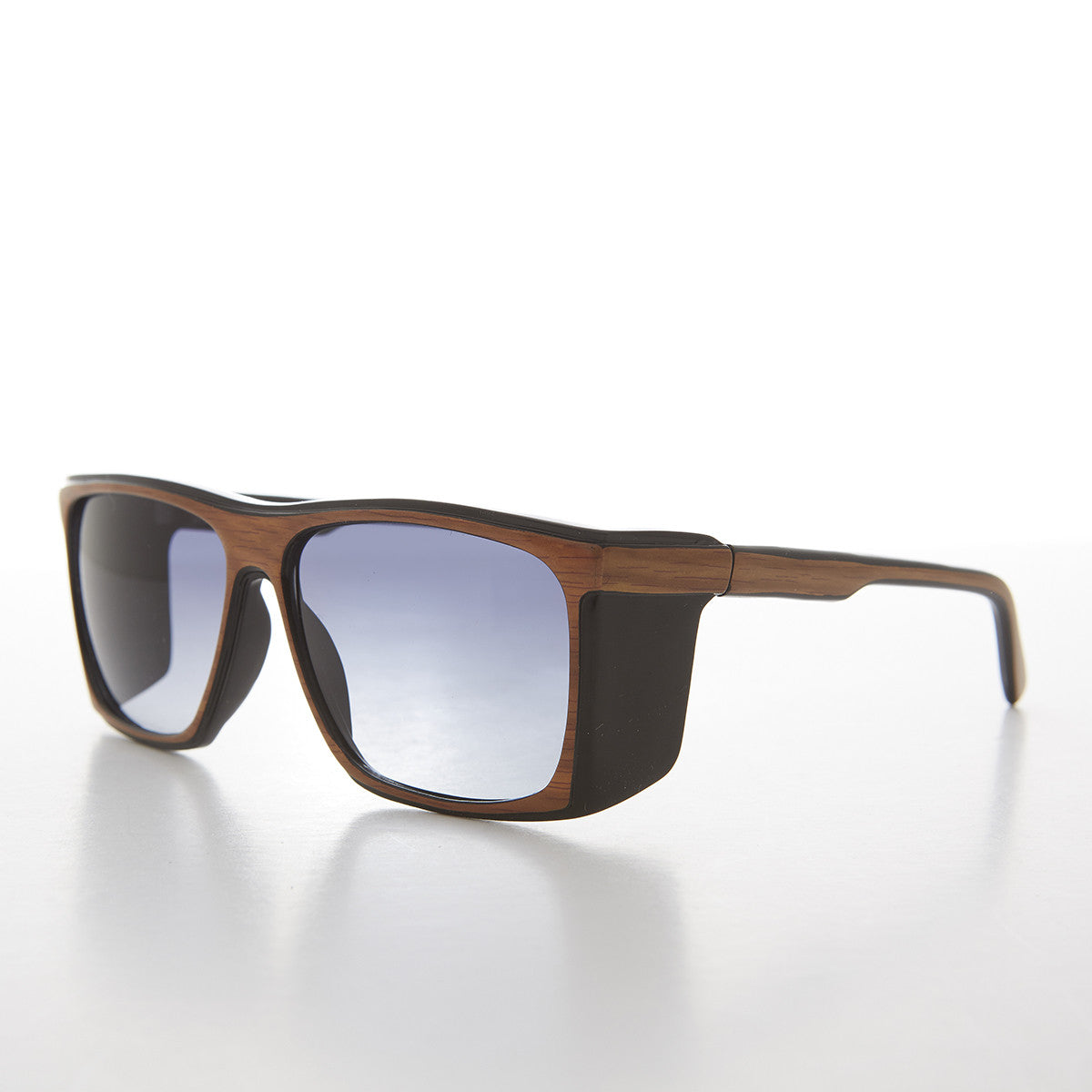 flat top vintage sunglass with side shields