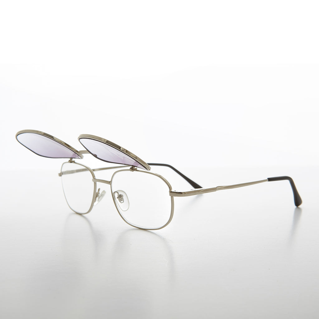 Reading Glasses with Colored Lens Flip Up Sunglass