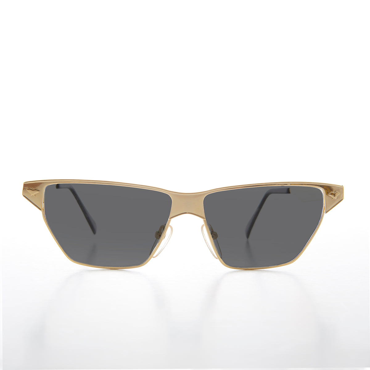 Gold Triangular Frame Vintage Sunglass