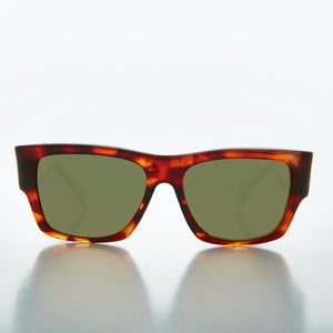 classic tortoiseshell rectangular men's sunglass