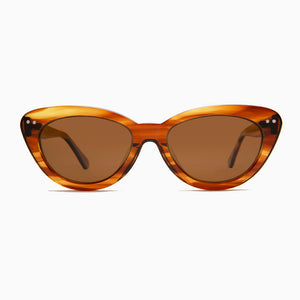 cat eye retro sunglass with polarized lenses