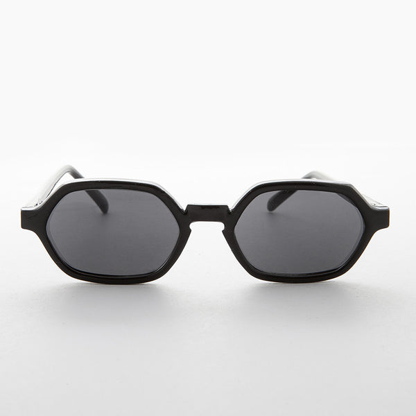 hexagon black vintage sunglass