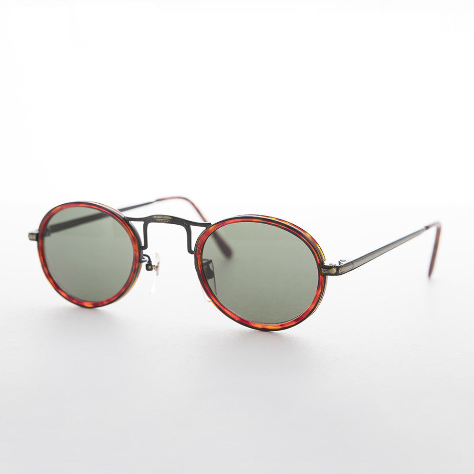 oval great gatsby aviator vintage sunglass