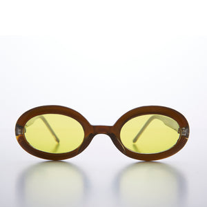Small Oval 90s Sunglass Frames with Colored Lenses
