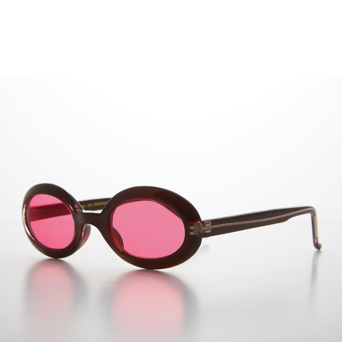 Small Junior Adult Oval 90s Sunglass Frames with Colored Lenses