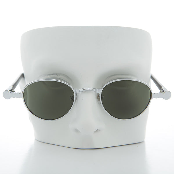 Silver 90s Oval Victorian Vintage Sunglass