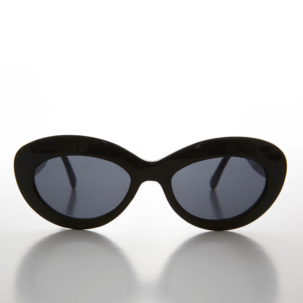 fa23cee7cacba Mod Cat Eye Vintage Sunglass with Gold Temple Design - Ginny 2