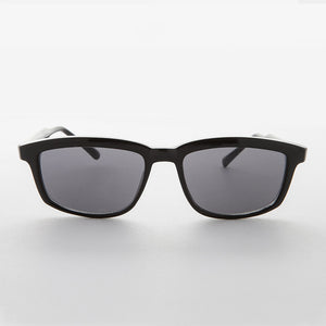 classic mens rectangle frame vintage sunglass