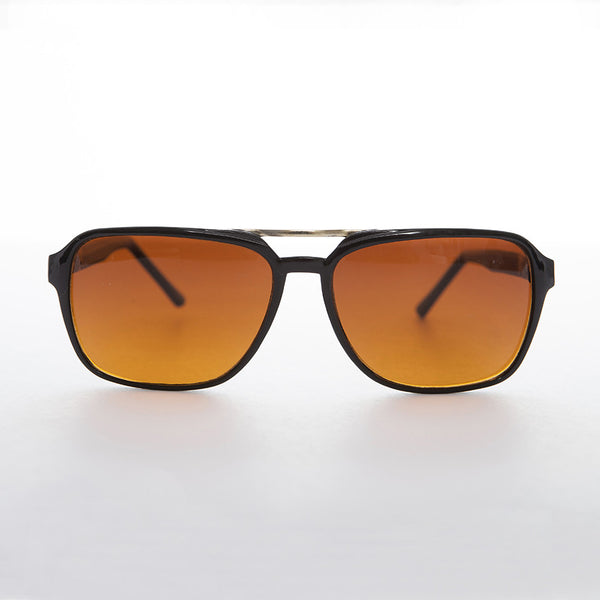 amber yellow lens aviator sunglass
