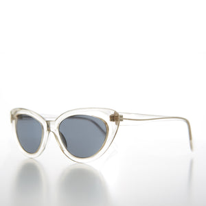 Clear Frame Cateye Vintage Sunglass Retro 50s