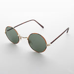 Load image into Gallery viewer, gold john lennon round vintage sunglass with glass lens