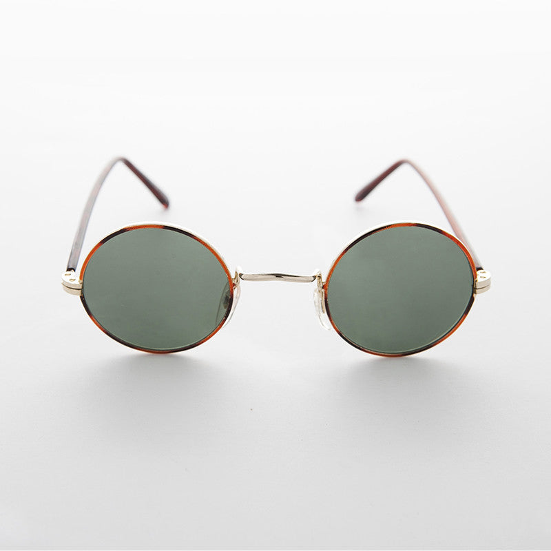john lennon round vintage sunglass with glass lens