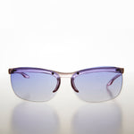 Purple Colored Lens Wrap Around 90s Vintage Sunglass Small Adult