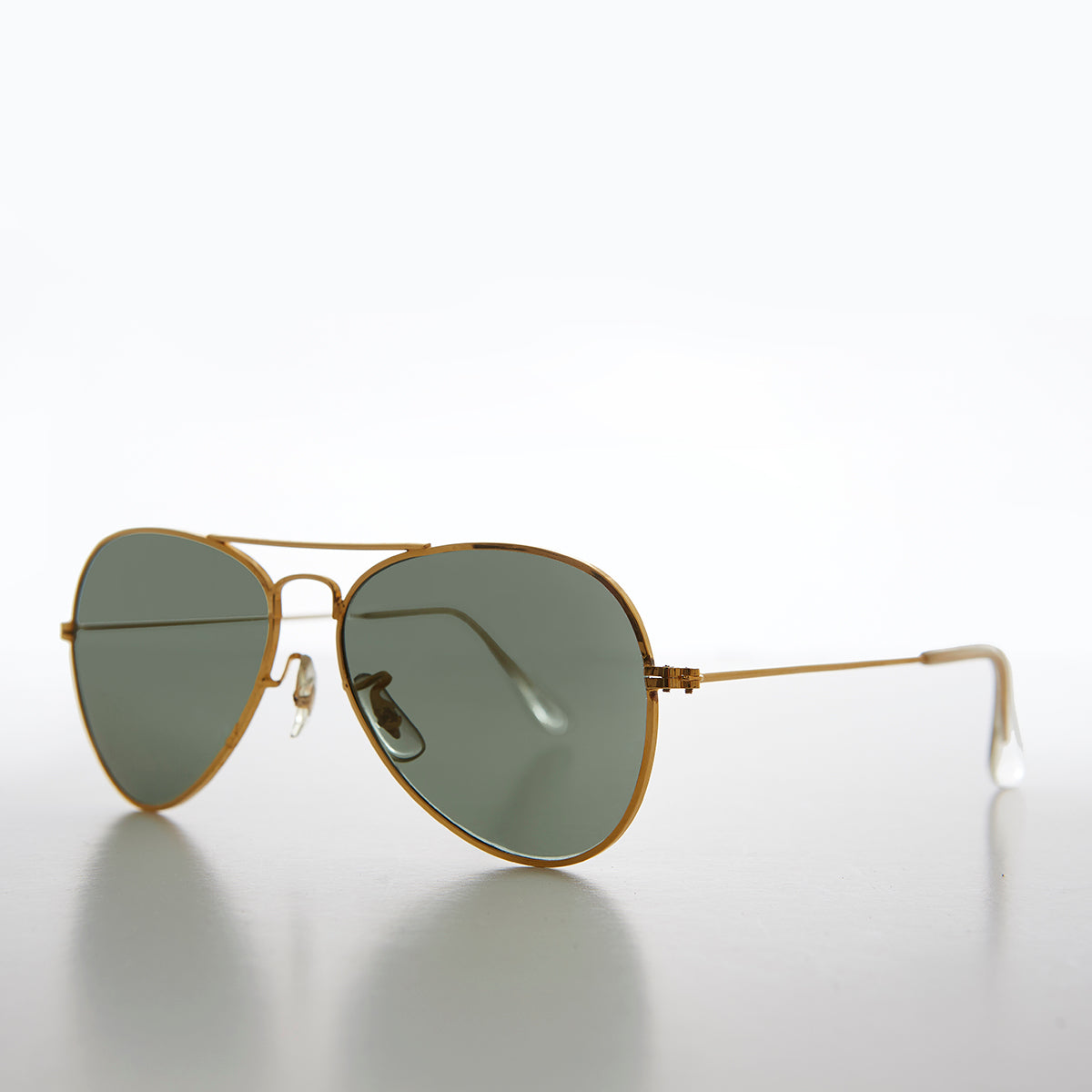Small Adult Metal Aviator with Glass Lens
