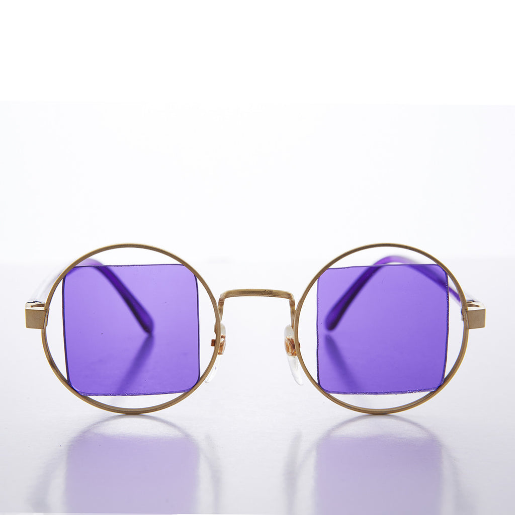adcfe06b86c1 purple lens round psychedelic vintage sunglasses