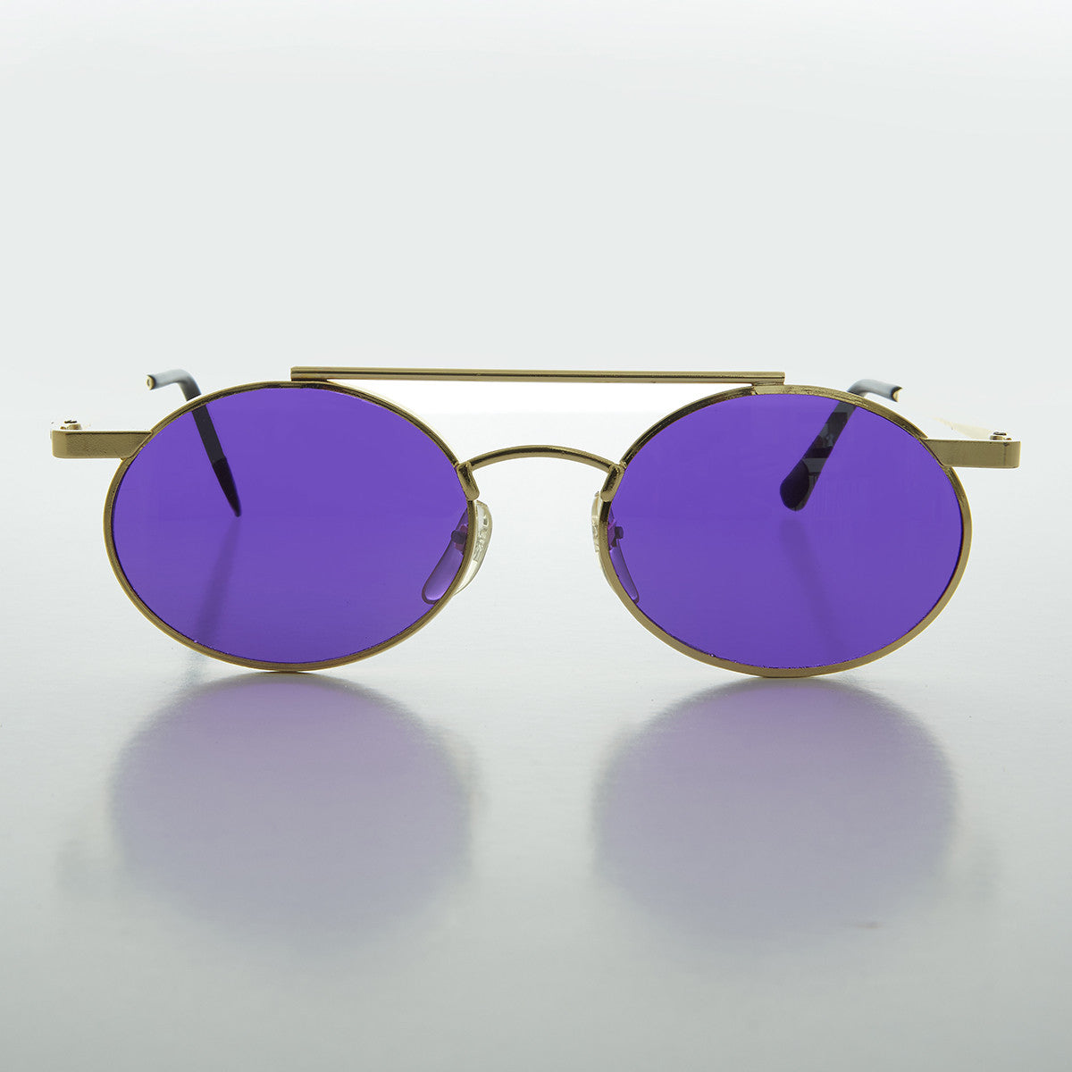 ff51e66e5d84 Ozzy Osbourne Steampunk Oval Vintage Glasses with Color Tinted Lens ...