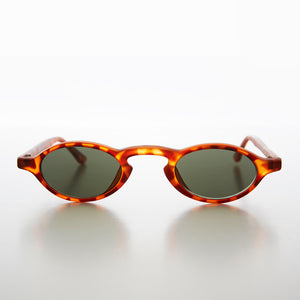 Tiny Oval Spectacle Vintage 90s Steampunk Sunglass