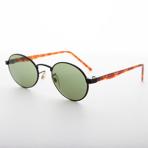Oval Colored Lens Vintage Metal Combo Sunglass - Hipster