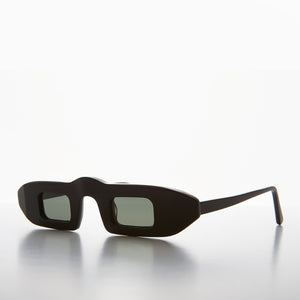 futuristic narrow edgy sunglass