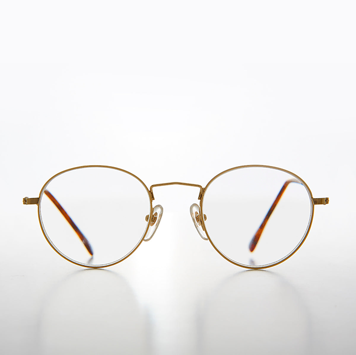 Gold Round Classic Polo Shape Reading Glasses