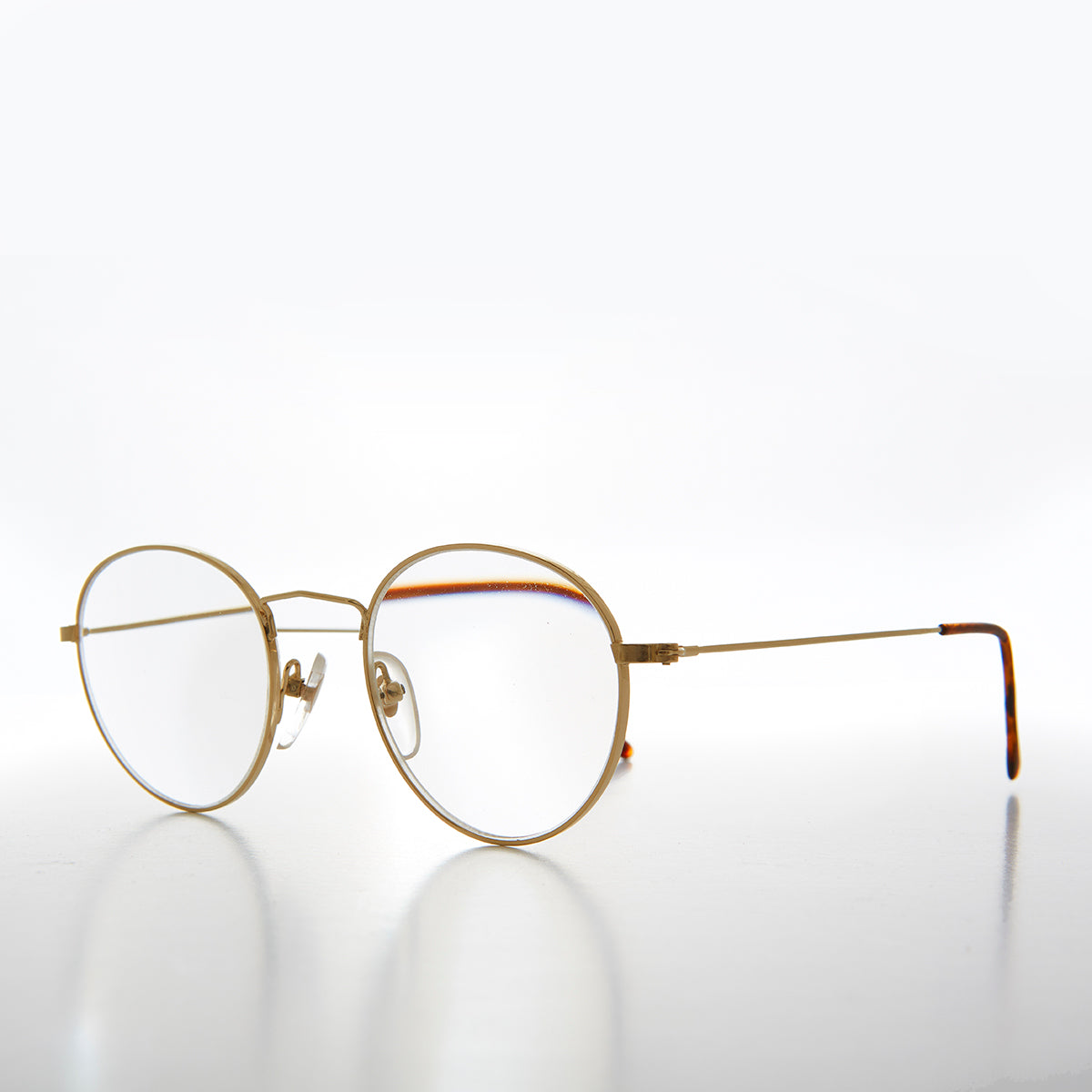 92f1bd61ad Gold Round Classic Polo Shape Reading Glasses - Hodges – Sunglass Museum