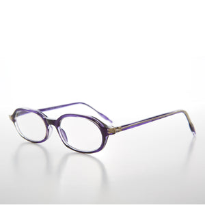 Purple Rounded Rectangular Reading Glasses