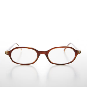 Brown Rounded Rectangular Reading Glasses